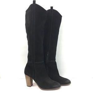 Dolce Vita Black Suede Over the Knee Boots 8.5